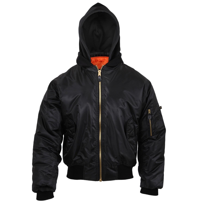 Jacket ULTRA FORCE MA1 FLIGHT BLACK ROTHCO 7400 L-11
