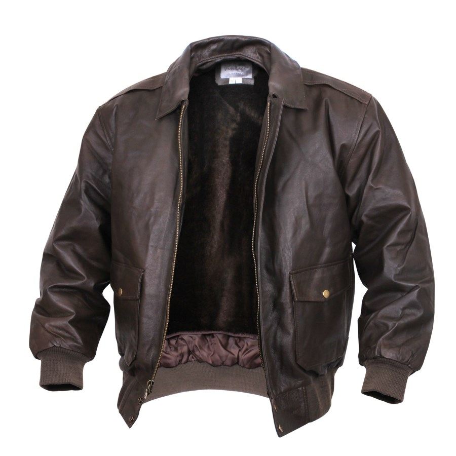 A2 leather jacket BROWN FLIGHT ROTHCO 7577 L-11