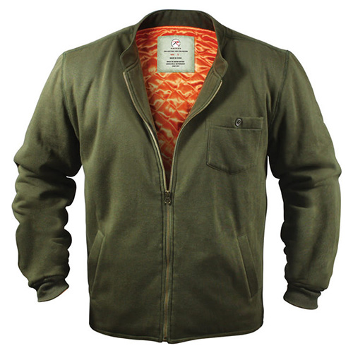 FLYERS INTERMEDIATE Fleece Jacket OLIVE ROTHCO 8549 L-11