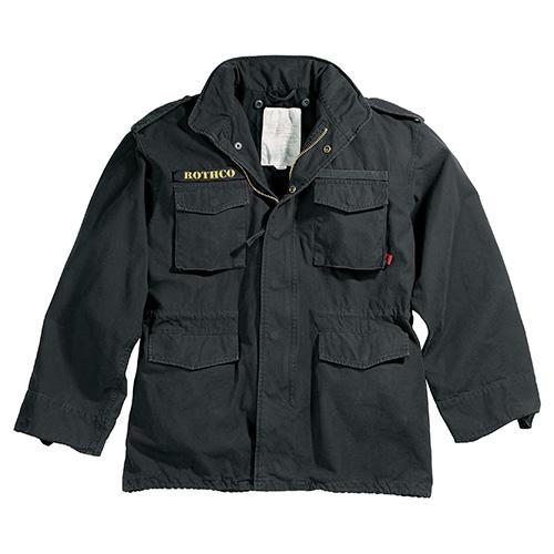 Jacket U.S. M65 VINTAGE BLACK ROTHCO 8608 L-11