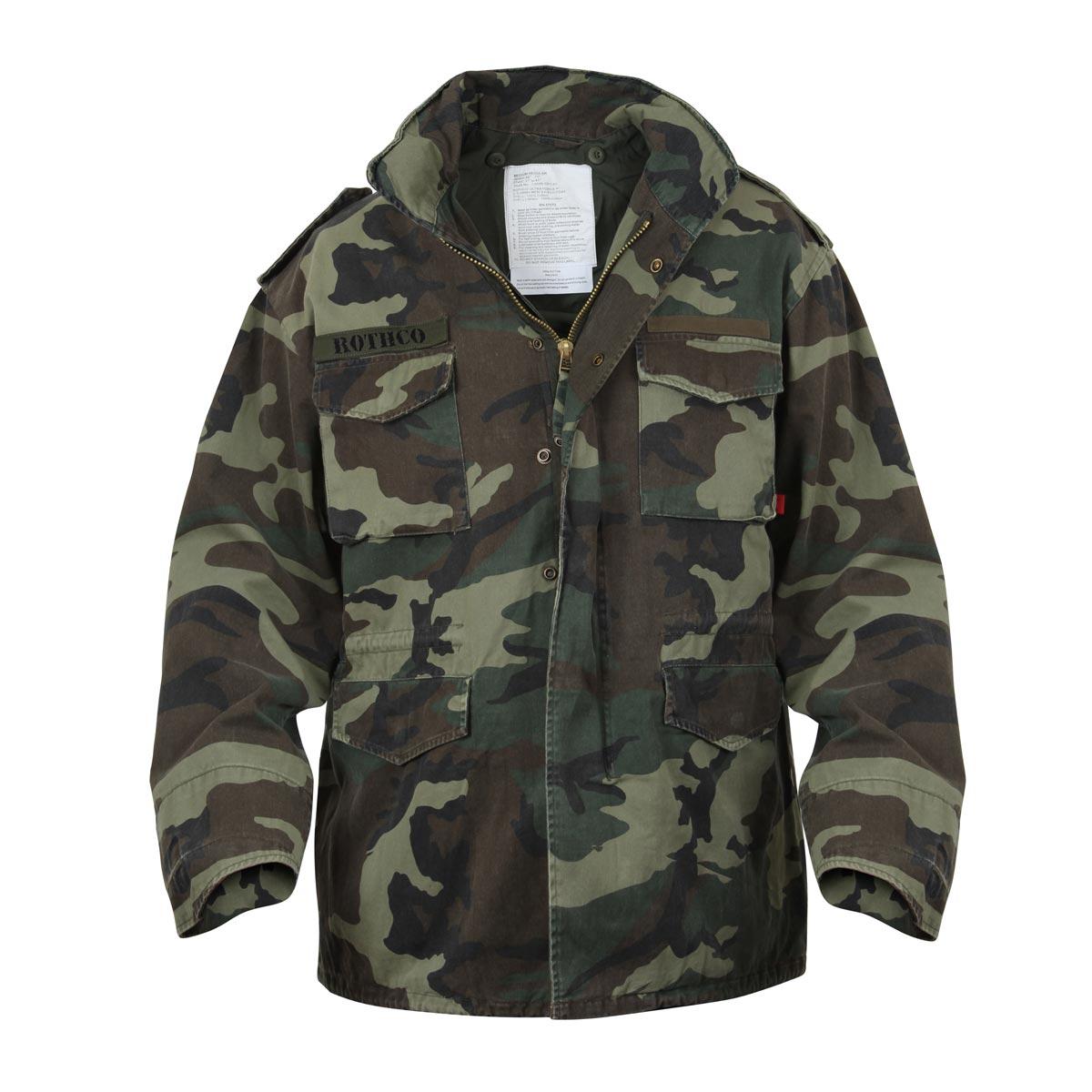 Jacket U.S. M65 VINTAGE WOODLAND ROTHCO 8613 L-11