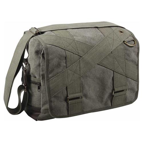 Shoulder Bag VINTAGE OLIVE MESSENGER OUTBACK ROTHCO 9115OD L-11
