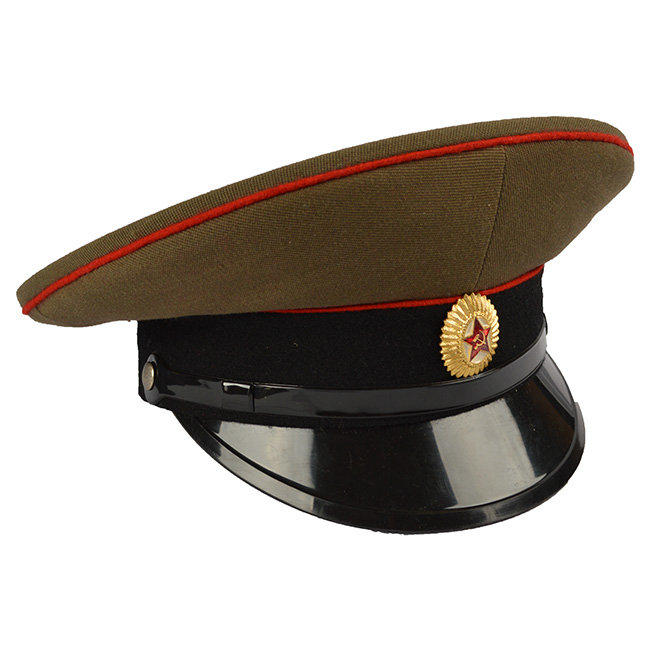 The Officers peaked cap RUSSIAN RED Russian Army 91244310-102 L-11