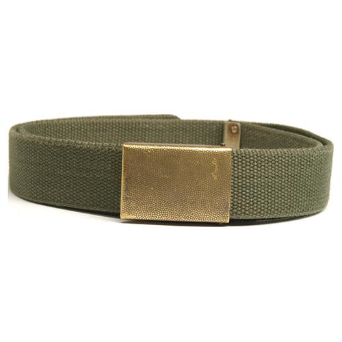 BW trouser belt textile OLIVE used (90.100 cm) Bundeswehr 91310201 L-11