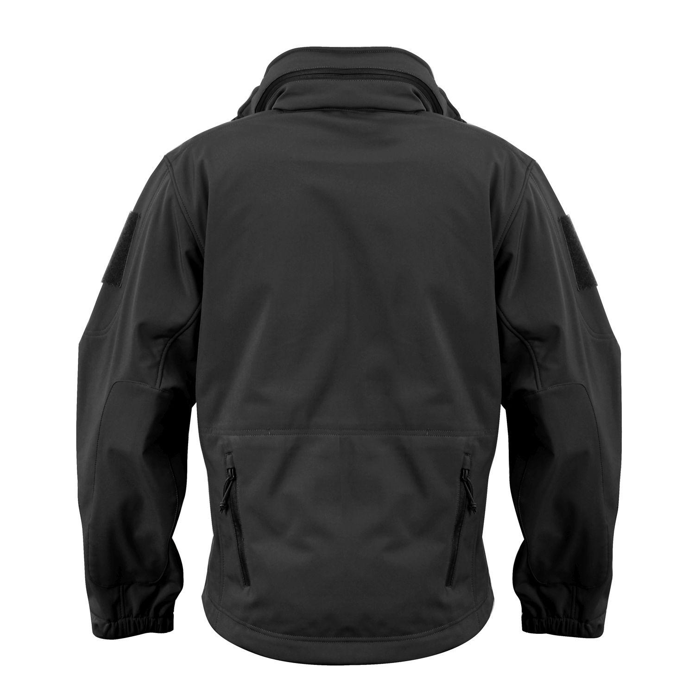 jacket softshell SECURITY hooded BLACK ROTHCO 97670 L-11