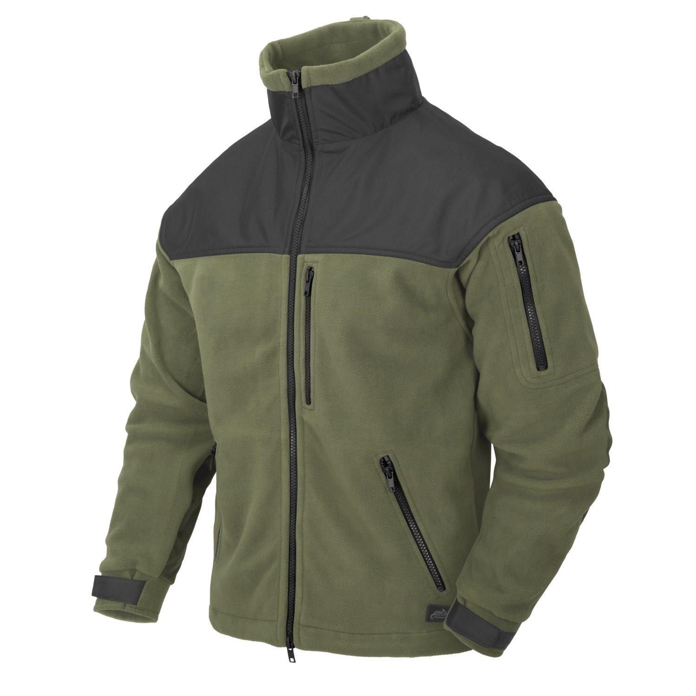 CLASSIC ARMY fleece jacket OLIVE GREEN/BLACK Helikon-Tex® BL-CAF-FL-16 L-11
