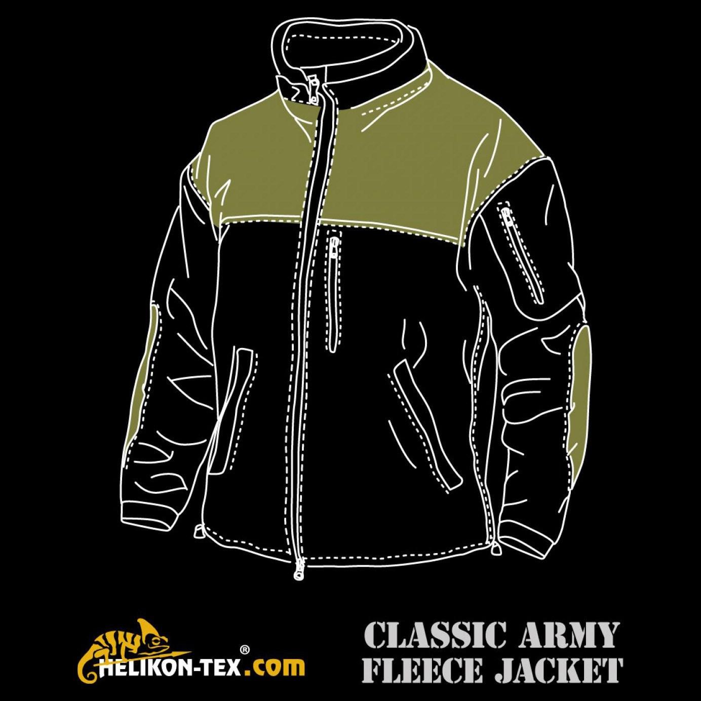 CLASSIC ARMY fleece jacket BLACK Helikon-Tex® BL-CAF-FL-01 L-11