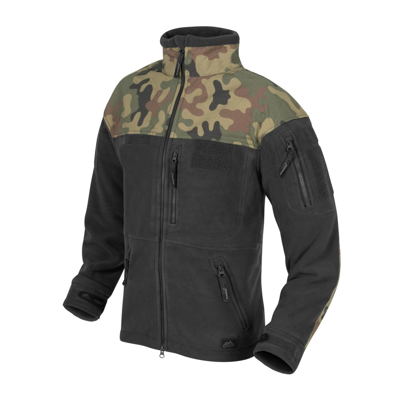 INFANTRY fleece jacket BLACK / WOODLAND PL Helikon-Tex® BL-INF-HF-17 L-11