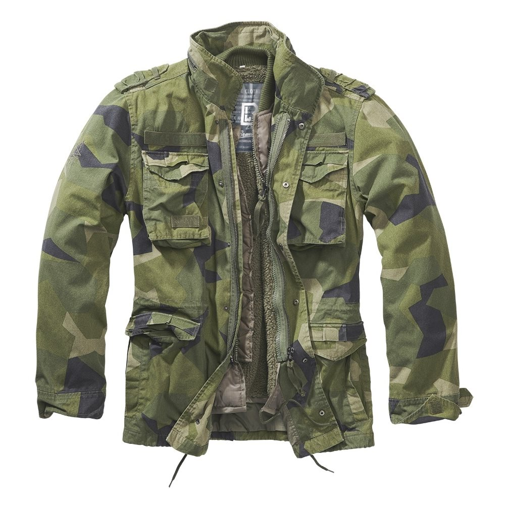 Jacket M65 GIANT SWEDISH CAMO M90 BRANDIT BU3101-125 L-11