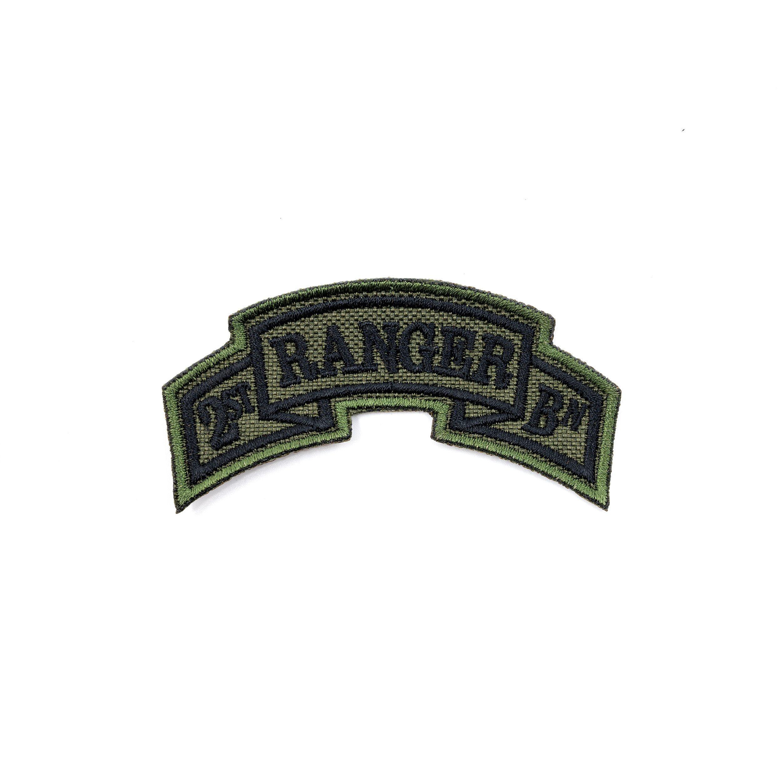 Patch arch 1st Ranger Battalion - OLIVE NAVYS E-16 L-11