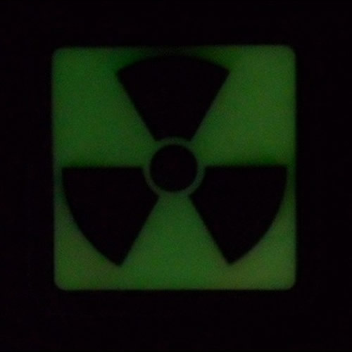 Patch H3 RADIOACTIVE plastic GLOW IN THE DARK lights JACKETS TO GO JTG-H3P-BKGID L-11