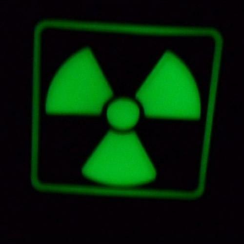 Patch H3 RADIOACTIVE plastic GLOW IN THE DARK dark JACKETS TO GO JTG-H3P-GID L-11