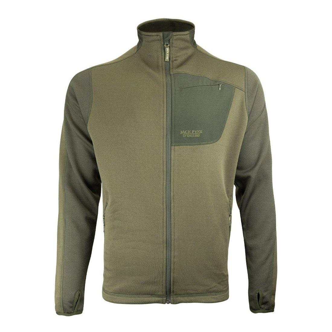 Jacket ASHCOMBE TECHNICAL FLEECE GREEN JACK PYKE JTFLJKTASHG L-11