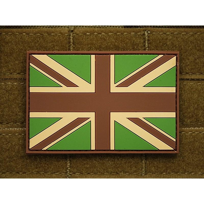 Patch GREAT BRITAIN flag plastic velcro large MULTICAM JACKETS TO GO JTG-UKF-MC L-11