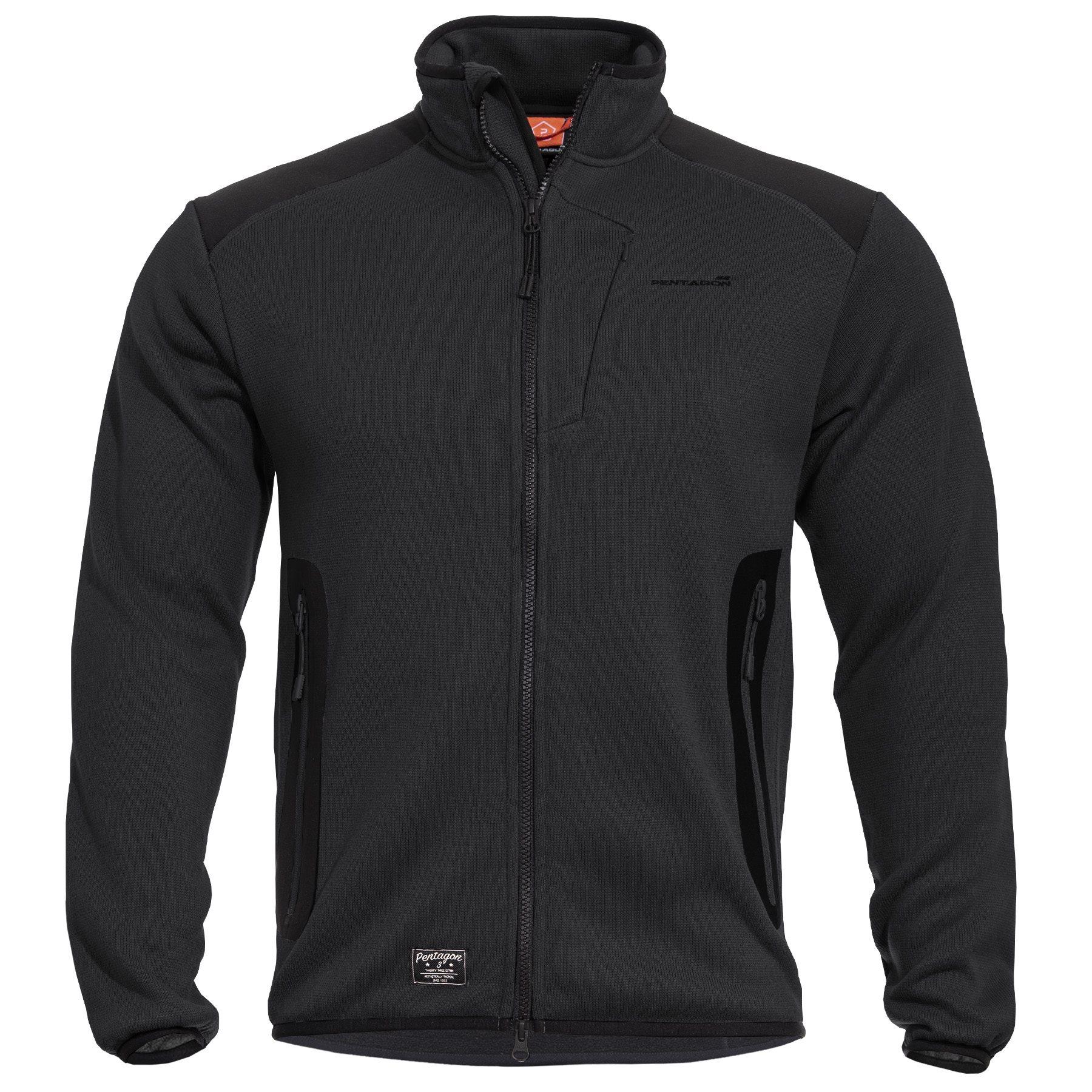 AMINTOR Fleece Sweater BLACK PENTAGON K08028-01 L-11