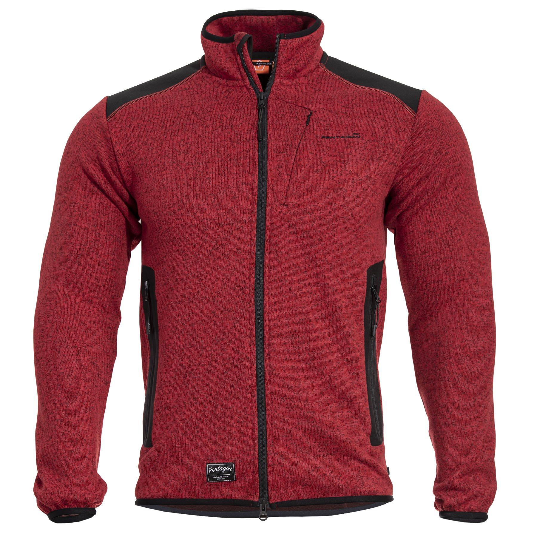 AMINTOR Fleece Sweater RED PENTAGON K08028-07 L-11