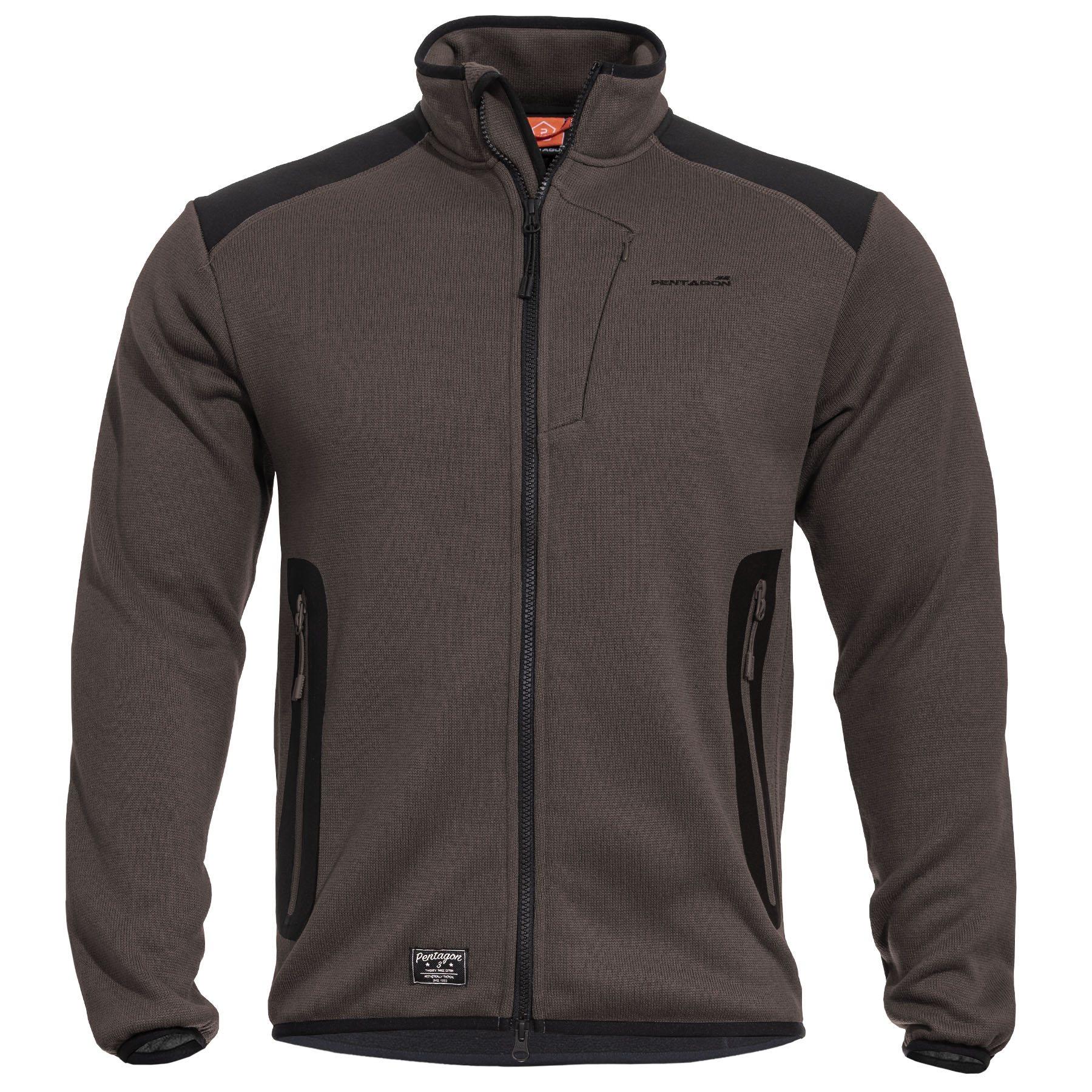 AMINTOR Fleece Sweater TERRA BROWN PENTAGON K08028-26 L-11