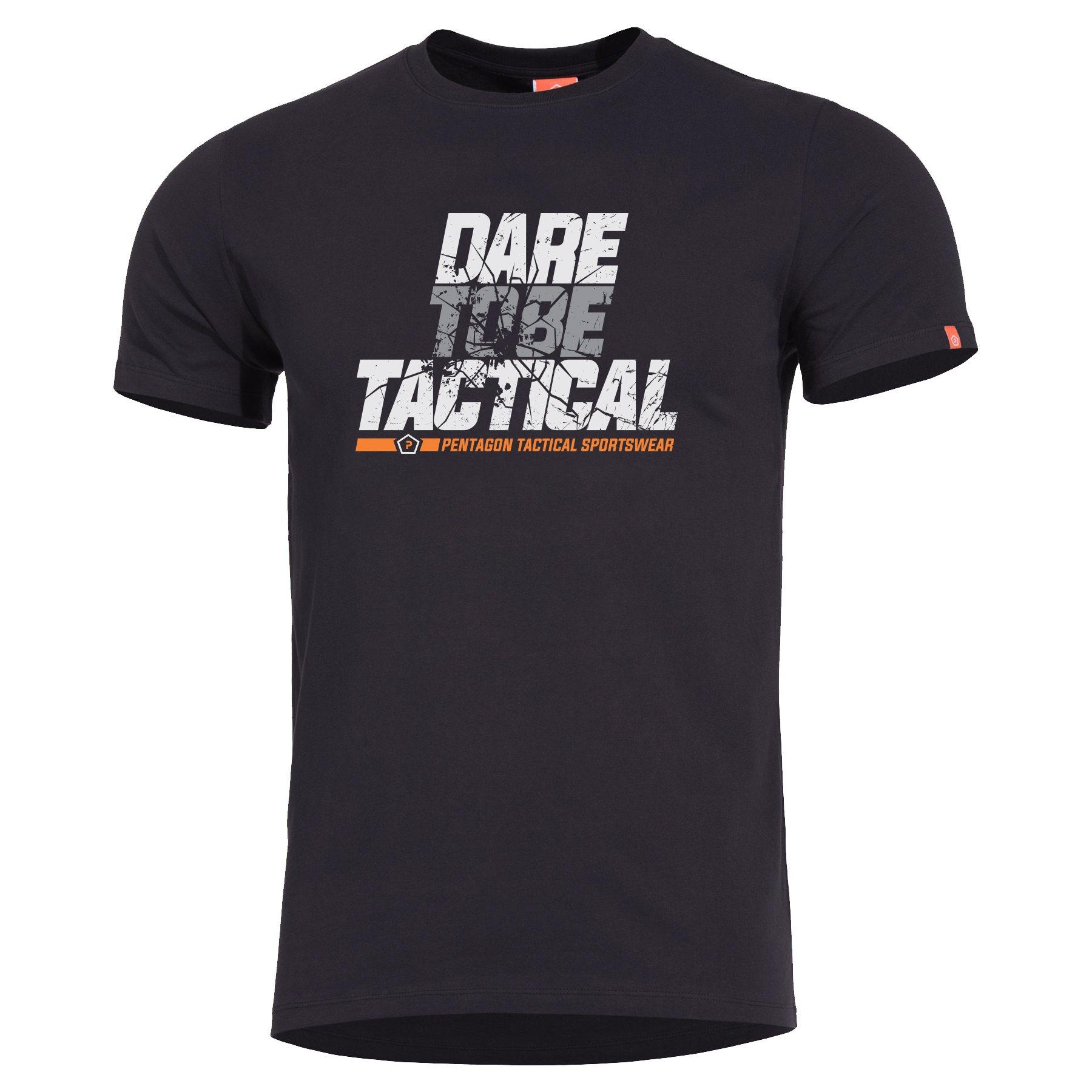 T-shirt DARE TO BE TACTICAL BLACK PENTAGON K09012-DT-01 L-11