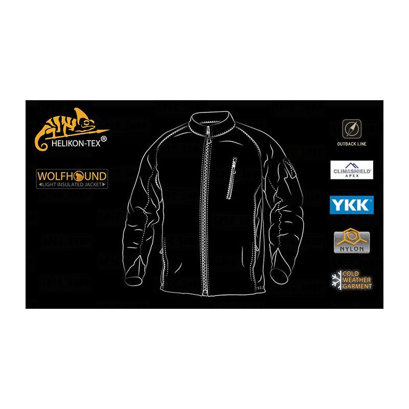 WOLFHOUND Jacket ALPHA GREEN Helikon-Tex® KU-WLF-NL-36 L-11