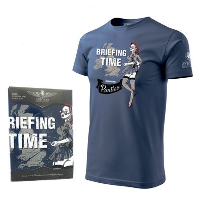 T-shirt BRIEFING TIME BLUE
