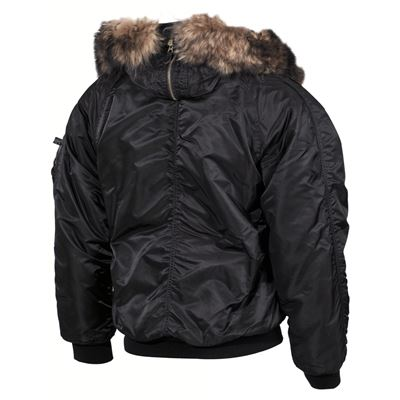 Jacket hooded N2B POLAR BLACK