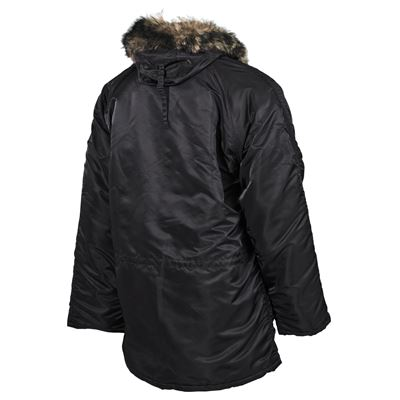 Jacket hooded N3B POLAR BLACK