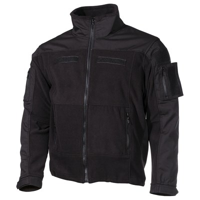 Tactical fleece jacket COMBAT BLACK