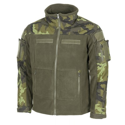 Tactical fleece jacket COMBAT czech CAMO 95