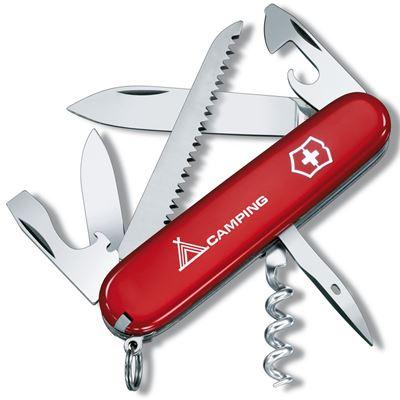 Pocket Knife RED CAMPER + sign
