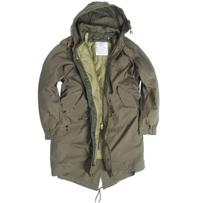U.S. M65 jacket with liner FISHTAIL OLIVE