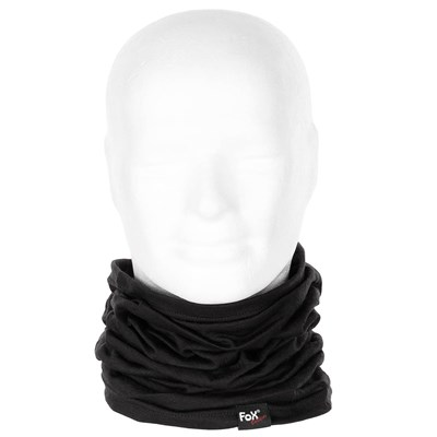 Multifunctional scarf MERINO LITE BLACK