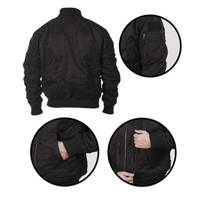 Pilot Jacket US TACTICAL BLACK