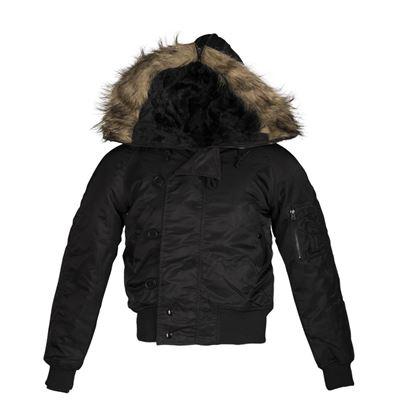 N-2B jacket pilot hooded BLACK
