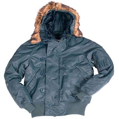 N-2B jacket pilot hooded BLUE