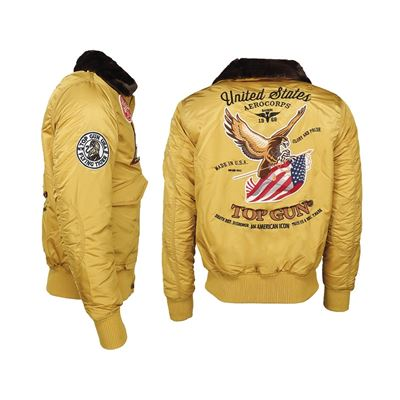 Aviation jacket TOP GUN FLYING TIGERS YELLOW