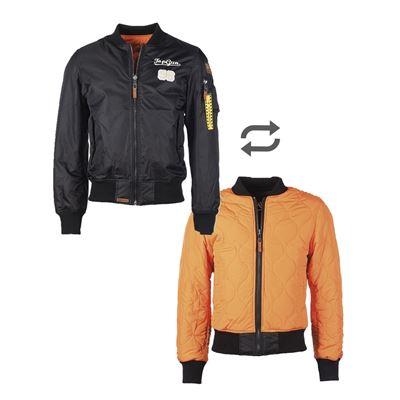 Top Gun Flight Jacket TOMCAT reversible BLACK/ORANGE