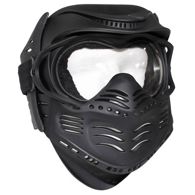 Protective paintball mask FIGHT BLACK