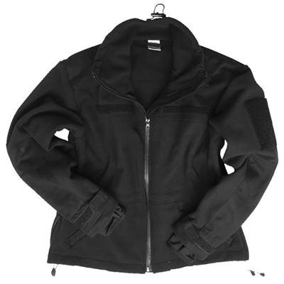 WINDPROOF fleece jacket BLACK