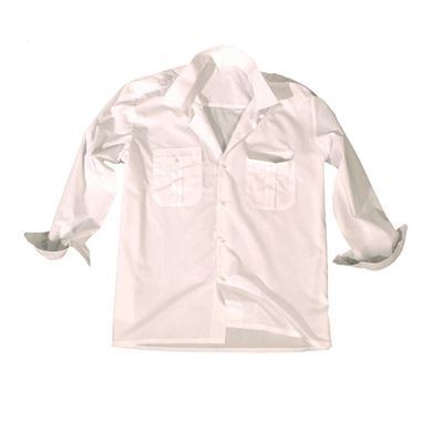 SERVICE long sleeve shirt with buttons WHITE