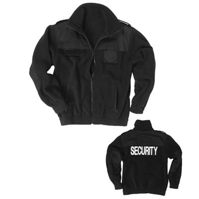 SECURITY fleece jacket BLACK