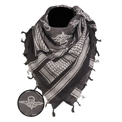 Scarf SHEMAG PARATROOPER BLACK/WHITE