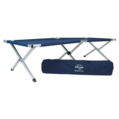 U.S. folding deck chair with AL frame in the package BLUE