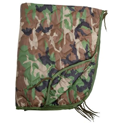 U.S. poncho liner with a case WOODLAND