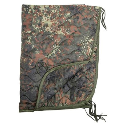 BW poncho liner with a case Flecktarn