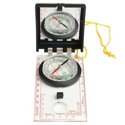 Compass PLASTIC MIL-TEC with mirror