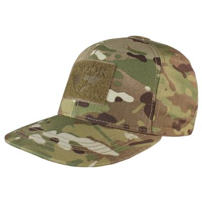 Flat Bill Snapback Hat with MULTICAM