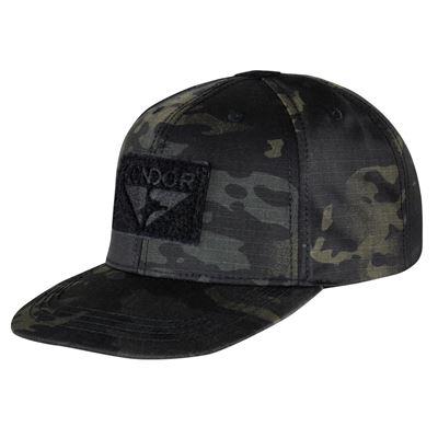 Flat Bill Snapback Hat with MULTICAM BLACK