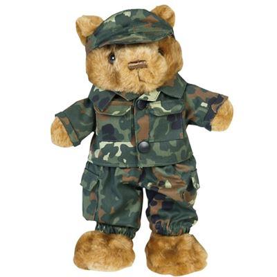 Toy TEDDY DRESSED small - Flecktarn