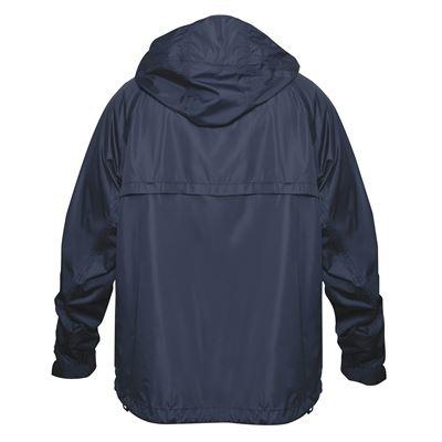 Lightweight waterproof jacket with hood NAVY BLUE