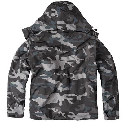WINDBREAKER ZIPPER Jacket BLACK CAMO